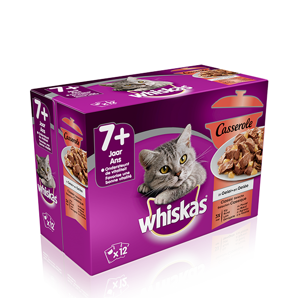 WHISKAS<sup>®</sup> Casserole Classic Selectie 7+